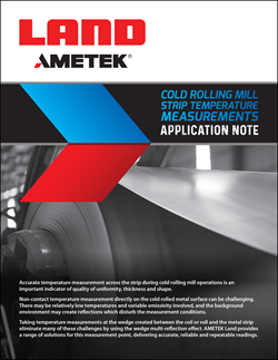 Cold Rolling Mill Strip Temperature Measurements Application Note